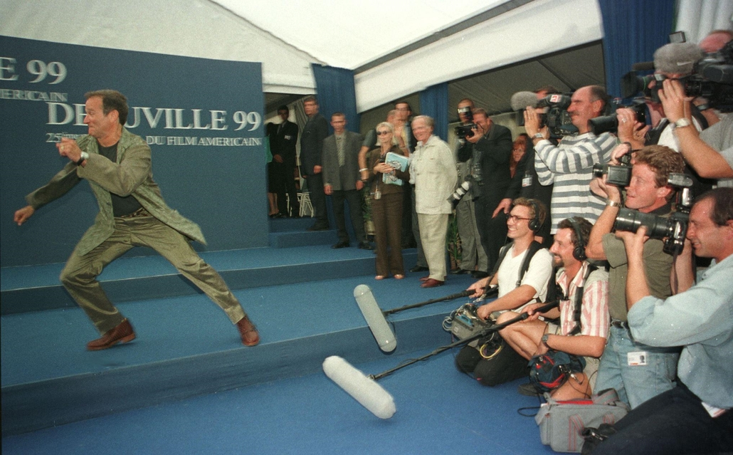 afp. Robin Williams, FRANCE, Deauville 1999-09-07