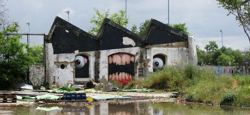 Street art percek: Harapós