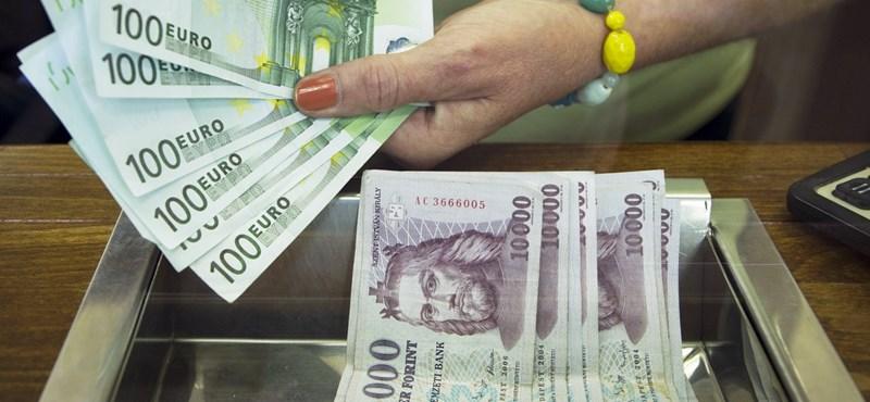 Megcsúszott a forint estére az euróval, dollárral szemben is