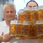 Hőségben sörriadó