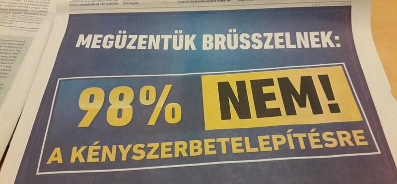 """""""Megüzentük Brüsszelnek"""" – új reklámokkal ünnepel a kormány"""