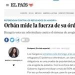 El País: Idegengyűlöletről szól Orbán referenduma