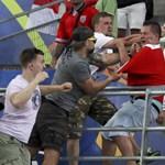 Balhé volt a stadionban az angol-orosz meccs után
