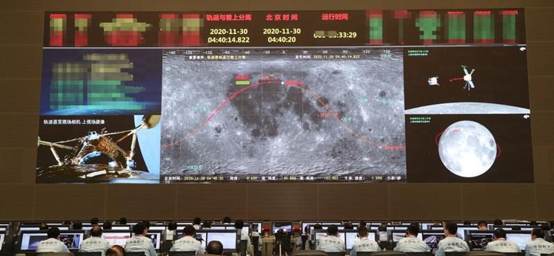 Egyben leszállt a kínai holdszonda, nemsokára elkezdi gyűjteni a Hold köveit