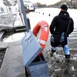 Áradást és havazást is hozott Németországra az Axel viharciklon - fotók
