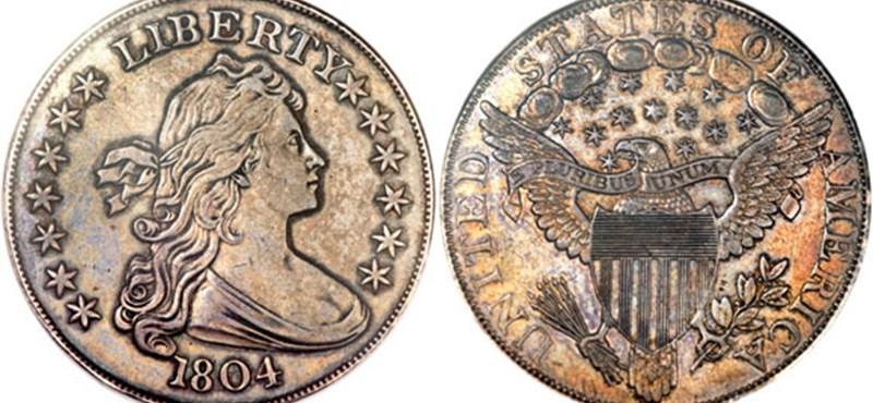 3,3 millió dollárért árverezték el egy amerikai érmét