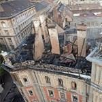Védőszerkezetet kap a leégett Andrássy úti palota