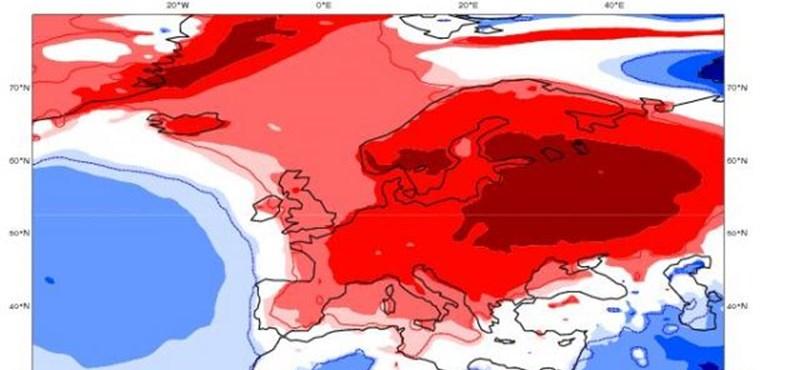 Hőmérsékleti anomália telepedett Magyarországra – térképek