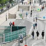 Megint a bringásoké és a gyalogosoké a hétvégére a Pesti alsó rakpart