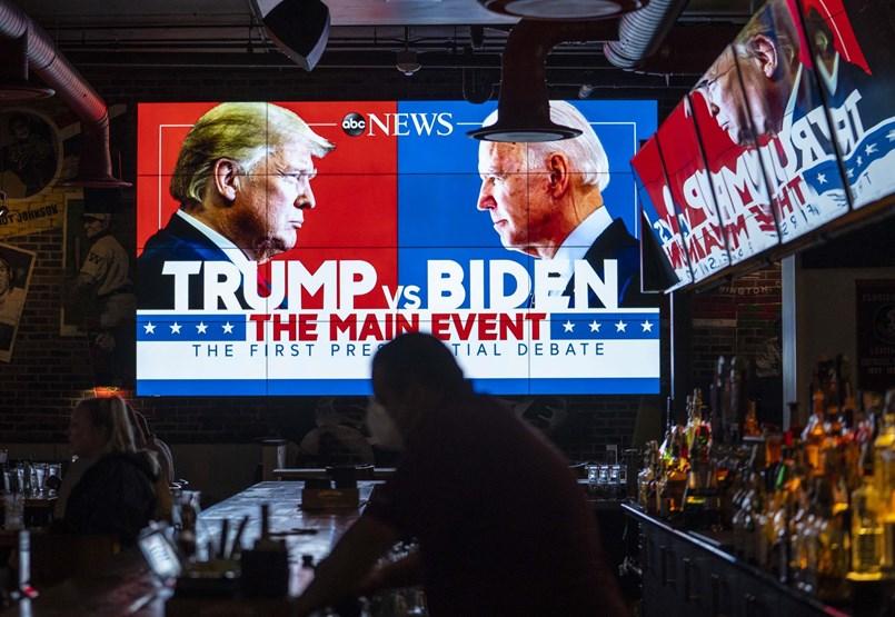 Személyeskedésbe és káoszba fulladt Trump és Biden első tévévitája