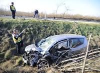 Vadak okoztak balesetet Dabasnál – fotók