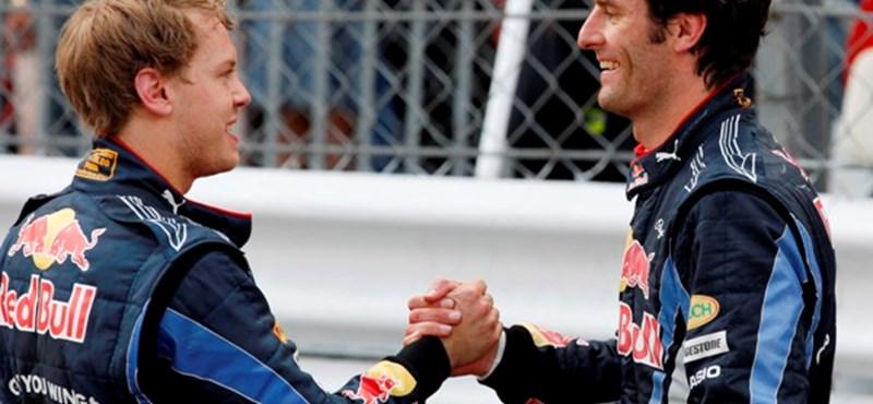 Forma-1: Vettel békét kötött Webberrel