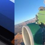 Videó: Alighogy felszállt a repülő, az utasok megijedtek, amikor kinéztek az ablakon