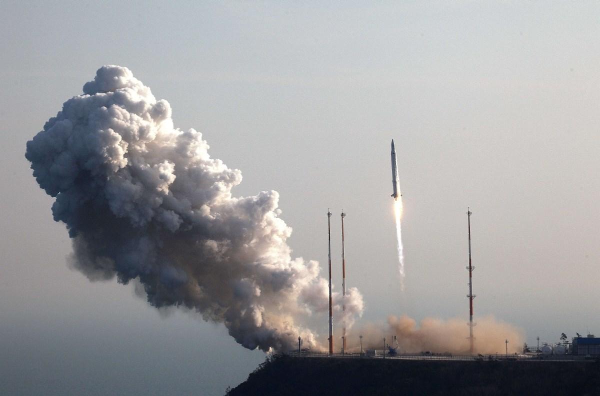 Fotó: Rakétát lőttek ki a dél-koreaiak