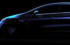 Az első hivatalos fotó a Mercedes EQS luxus-villanyautó külsejéről