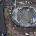 Így épülnek a 2012-es londoni olimpia stadionjai! (fotókkal)