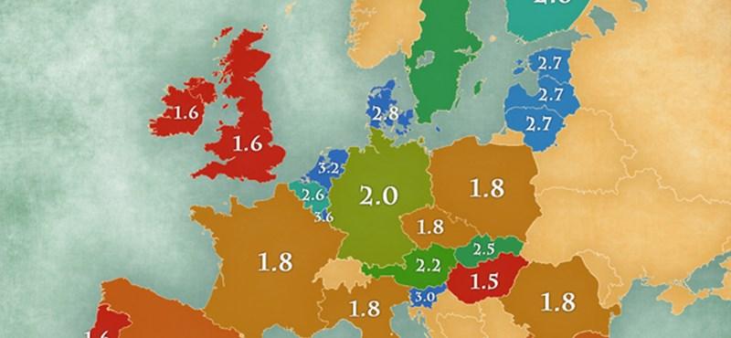 Térkép: Még egy dolog, amivel kilógunk a sorból Európában