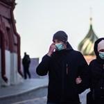 Oroszországban megugrott a koronavírussal fertőzöttek száma