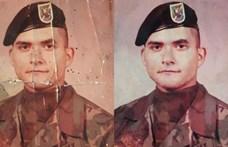 Csak egy szakadt fotója volt édesapja katonakorából, aztán feltöltötte az internetre