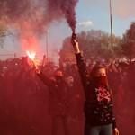 Közel 400 ezer nő tüntetett Madridban nőnapkor