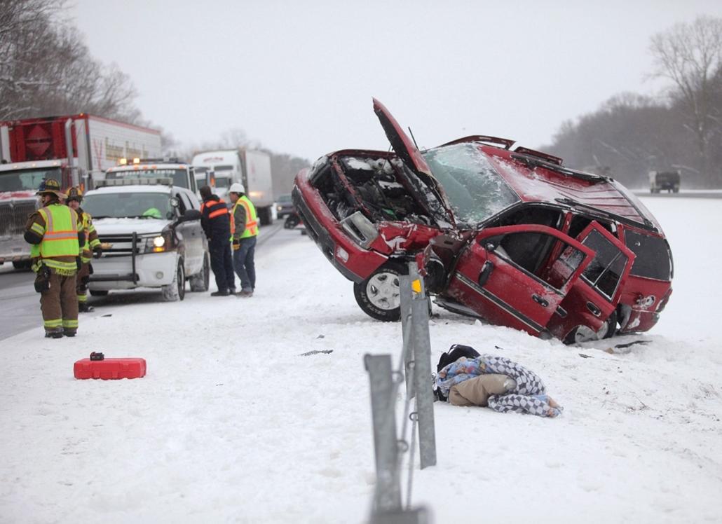 AP! Január 12-ig! Hóhelyzet, havazás, USA, egyesült államok, 2014.01.03.