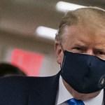 Trump lassan hozzászokik ahhoz, hogy maszkot hordjon