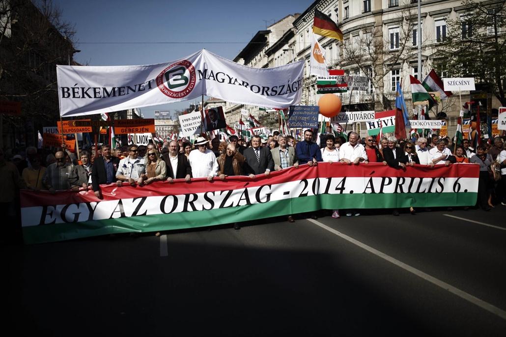 üzs. Békemenet 2014 - 2014.03.29. Budapest - perec