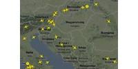 élő térkép Világ: Élő térkép az európai légtérről   HVG.hu élő térkép