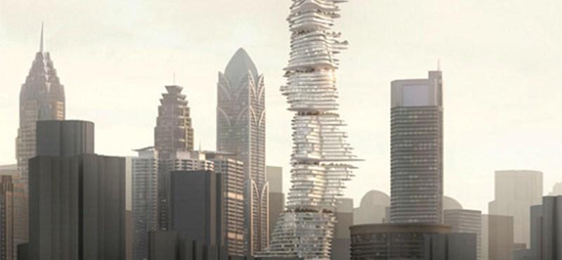 Kínai felhőkarcoló a jövőből: teraszos és pikkelyes