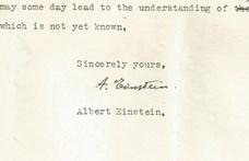 Előkerült Albert Einstein eddig nem látott levele