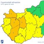 Orkánerejű szél, felhőszakadás miatt sárgul be az ország nagy része – térkép