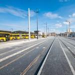 Fotókat közölt a BKK a Kelenföldig hosszabbodó 1-es villamosvonalról