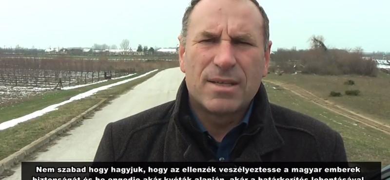 Boldog István elment a szerb határra félni