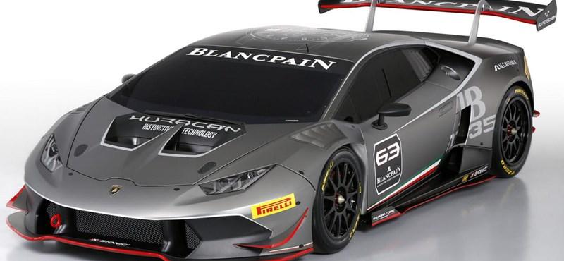 Brutális lett a Lamborghini új versenyautója