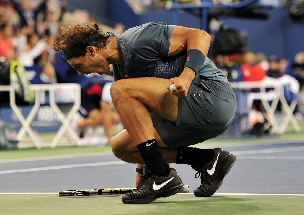 13.09.09. - New York, USA: a spanyol Rafael Nadal a 2013. US Open döntöje után, melyet Novak Djokoviccal játszott. - évképei, az év sportképei