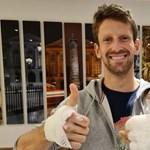 Három gyereke által díszített sisakot viselt volna utolsó F1-es futamán Romain Grosjean
