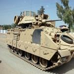 26 tonnás harci járművekkel mennek az amerikai katonák a Bakonyba