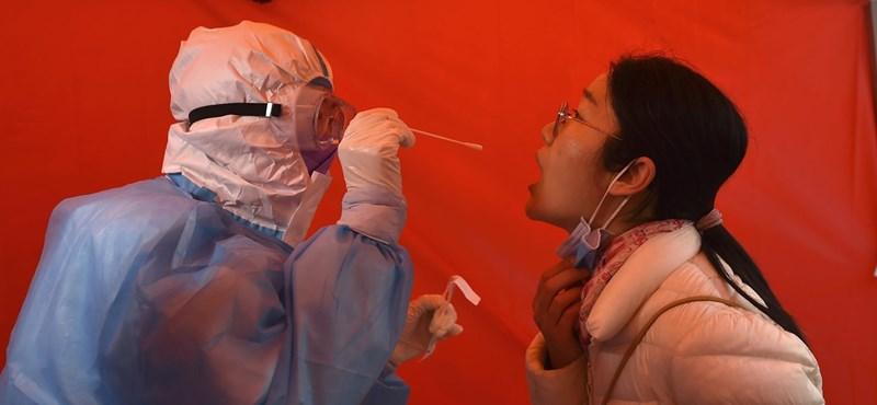 Öt fertőzött miatt tesztelnek 3 millió embert Kínában