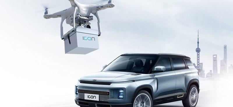 Drón viszi az új autó slusszkulcsát a tulajhoz Kínában
