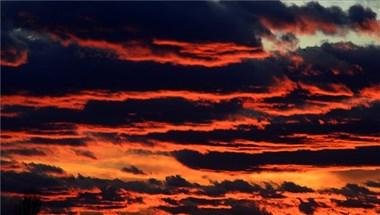 Gyönyörű naplementét fotóztak Budapesten