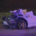 Egy utcányit repült a váltósúlyú bokszvilágbajnok Ferrarija, amikor balesetezett - videó