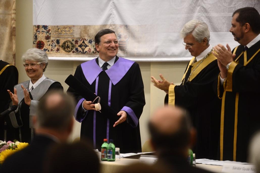 sa.14.09.11. - Díszdoktorrá avatta a Budapesti Corvinus Egyetem José Manuel Barrosót - José Manuel Barroso, Rostoványi Zsolt