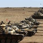 Török tankok lépték át a szír határt