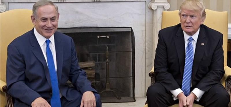 Trump Netanjahu hóna alá nyúlt a választás előtt