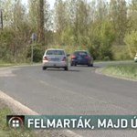 """Felmarták az utat Győrújfalunál és úgy hagyják, mert az volt a """"felújítás"""""""