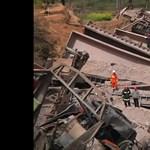 Kisiklott és lakóházba csapódott egy tehervonat Kínában