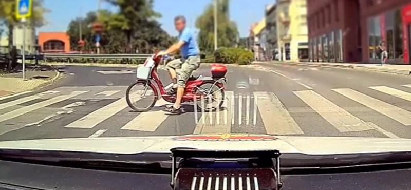 Most a biciklis szabálytalanságokról csinált videót a rendőrség