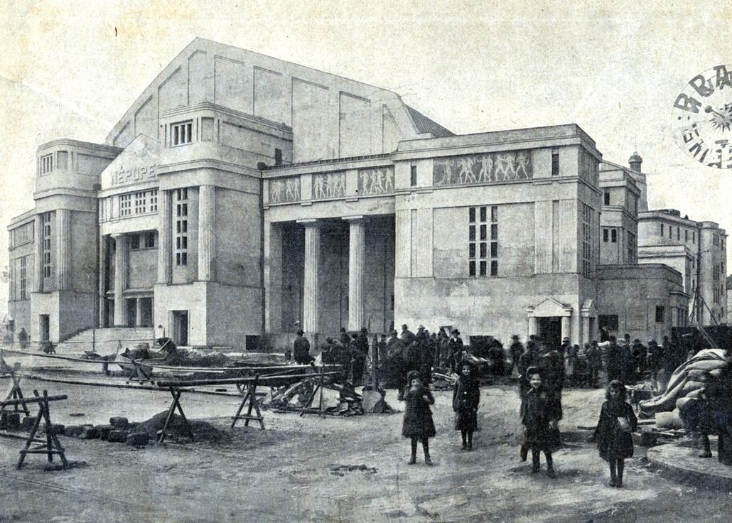 Erkel Színház - Nagyítás-fotógaléria - 1911, átadás előtt a Népopera