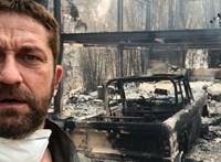Porig égett háza előtt szelfizett Gerard Butler