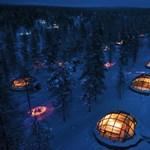 Luxusjégkunyhóból nézhető a finn faluban az északi fény